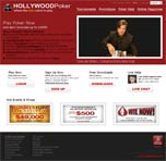 Hollywood Poker Sample Web Design 1