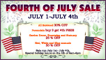 Fourth of July Sale Web Banner